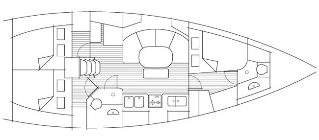 Beneteau 39 layout