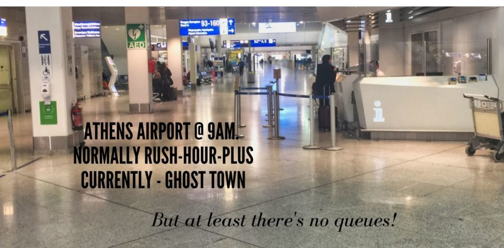 Athens airport in Covid Times