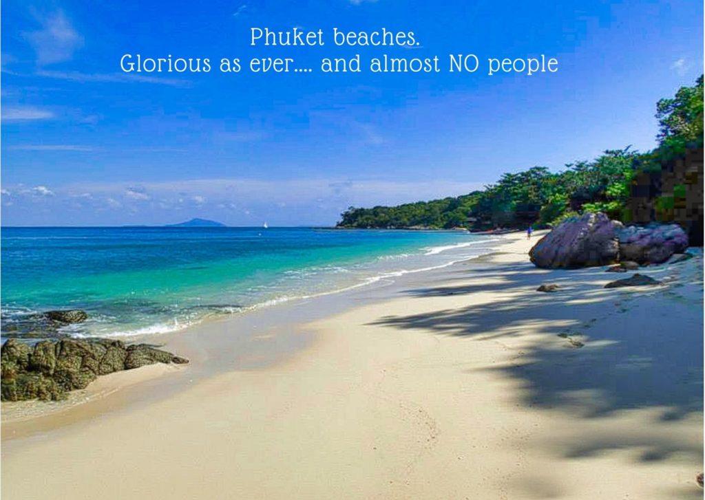 Empty, glorious beaches on Phuket