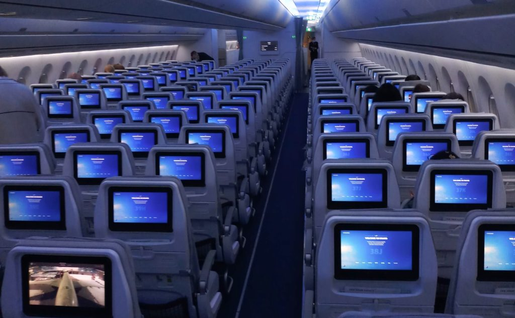 Qatar - almost empty plane