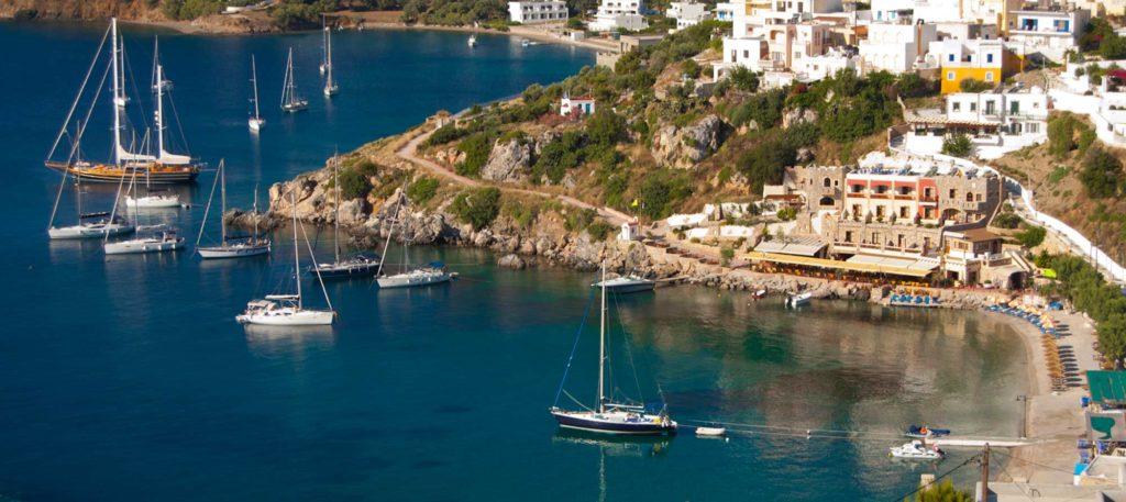 sailing boats in Pandeli, Leros - Greece