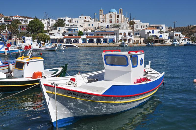 fishing boat in Lipsos, Greece